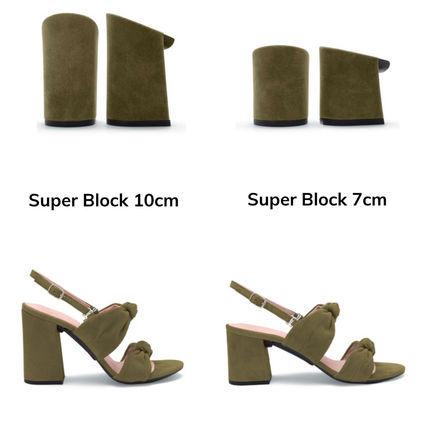 Open Toe Platform Suede Bi-color Pin Heels Mules Icy Color