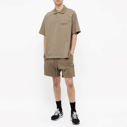 FEAR OF GOD Polos Pullovers Unisex Street Style Cotton Short Sleeves Oversized 3