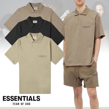 FEAR OF GOD Polos Pullovers Unisex Street Style Cotton Short Sleeves Oversized