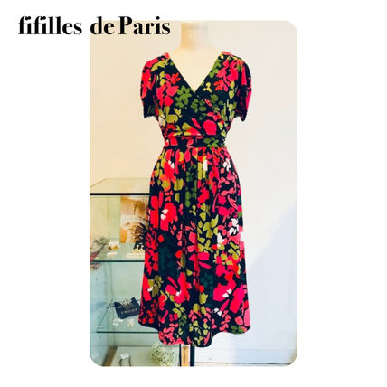 Flower Patterns Elegant Style Dresses