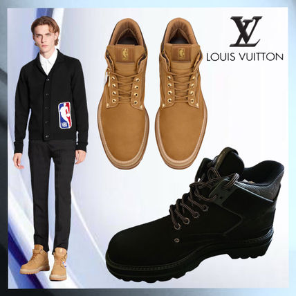 Louis Vuitton Plain Toe Mountain Boots Unisex Blended Fabrics Street Style