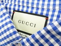 GUCCI Button-down Gingham Long Sleeves Other Animal Patterns