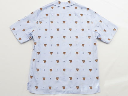 GUCCI Shirts Button-down Other Animal Patterns Cotton Short Sleeves 3