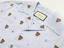 GUCCI Shirts Button-down Other Animal Patterns Cotton Short Sleeves 6