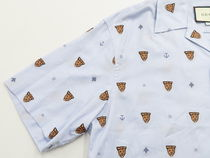 GUCCI Shirts Button-down Other Animal Patterns Cotton Short Sleeves 7
