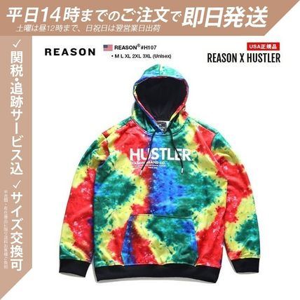 Pullovers Tropical Patterns Unisex Street Style Tie-dye
