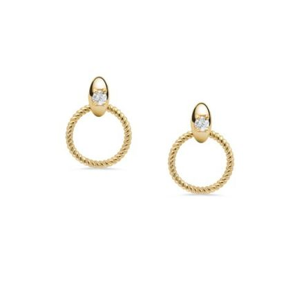 Bridal Chain Party Style 14K Gold Elegant Style Earrings
