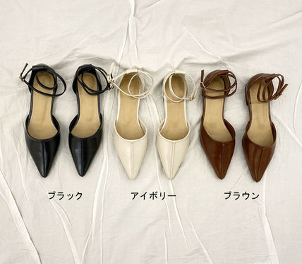 Casual Style Plain Pointed Toe Shoes