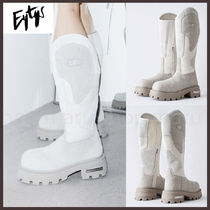 Eytys Platform Mountain Boots Round Toe Rubber Sole Casual Style