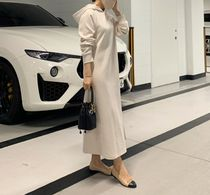 RONIEL Dresses Casual Style Sweat Flared Street Style Long Sleeves Plain 5