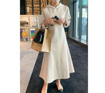 RONIEL Dresses Casual Style Sweat Flared Street Style Long Sleeves Plain 8