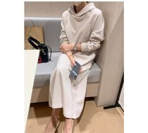 RONIEL Dresses Casual Style Sweat Flared Street Style Long Sleeves Plain 9