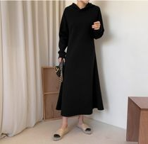 RONIEL Dresses Casual Style Sweat Flared Street Style Long Sleeves Plain 11