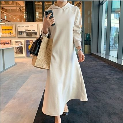 RONIEL Dresses Casual Style Sweat Flared Street Style Long Sleeves Plain