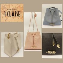 PRIMA CLASSE Casual Style Plain Leather Party Style Purses PVC Clothing