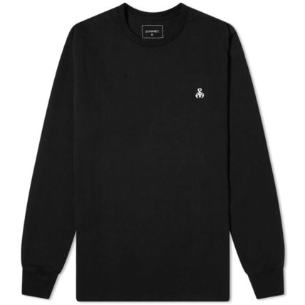 Long Sleeve T-shirt Logo Crew Neck Long Sleeves Plain