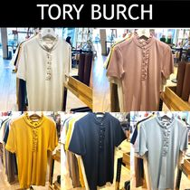 Tory Burch Casual Style Plain Short Sleeves Office Style Elegant Style