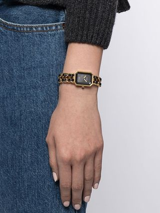 CHANEL Chain Leather Party Style Quartz Watches Office Style