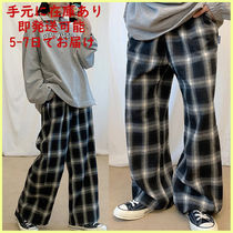 muahmuah Other Plaid Patterns Casual Style Street Style Cotton Logo