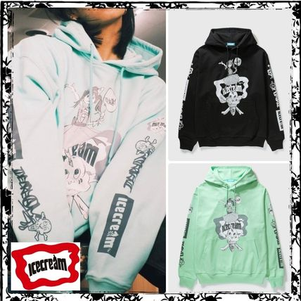 Billionaire Boys Club Hoodies Pullovers Unisex Street Style Collaboration Long Sleeves