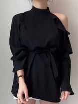 Casual Style Long Sleeves Formal Style  Off the Shoulder