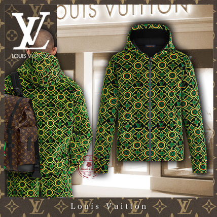 Louis Vuitton MONOGRAM Short Flower Patterns Monogram Unisex Nylon Street Style