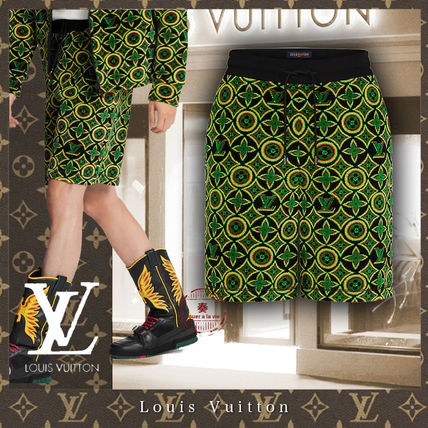 Louis Vuitton MONOGRAM Printed Pants Flower Patterns Monogram Unisex Street Style
