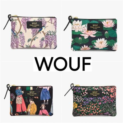 WOUF Flower Patterns Canvas Pouches & Cosmetic Bags