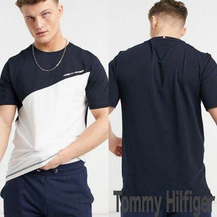 Tommy Hilfiger Crew Neck Crew Neck Pullovers Blended Fabrics Street Style Bi-color