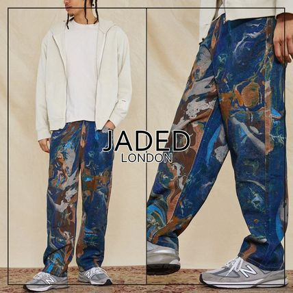 JADED LONDON More Jeans Printed Pants Denim Street Style Cotton Oversized Jeans