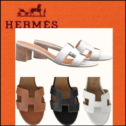 HERMES Oasis Casual Style Leather Office Style Elegant Style