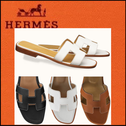 HERMES Oran Casual Style Leather Office Style Elegant Style