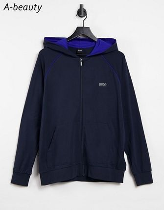 Hugo Boss Hoodies Long Sleeves Plain Logo Hoodies 2