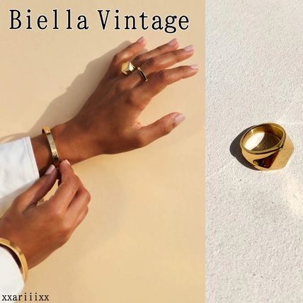 Casual Style Street Style 18K Gold Rings
