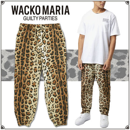 WACKO MARIA Tapered Pants Leopard Patterns Unisex Street Style