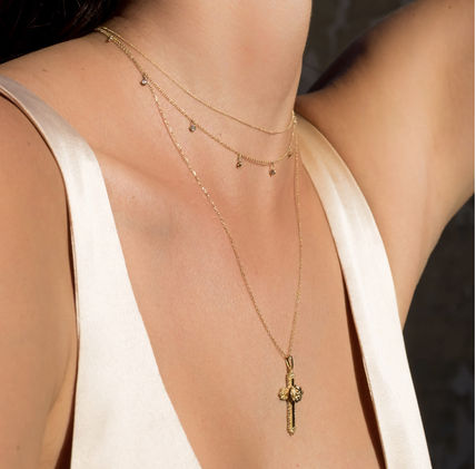 Costume Jewelry Casual Style Cross Street Style Chain