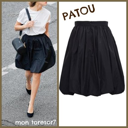 PATOU Flared Skirts Casual Style Plain Medium Midi Skirts