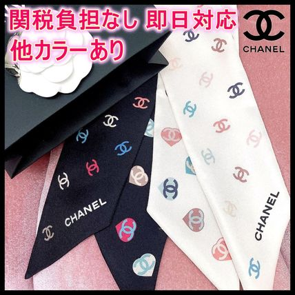 CHANEL ICON Casual Style Silk Party Style Elegant Style Logo