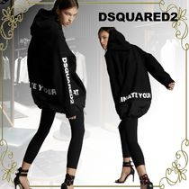 D SQUARED2 Sweat Blended Fabrics Street Style Bi-color Long Sleeves