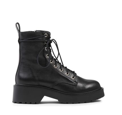 Steve Madden Platform Round Toe Rubber Sole Lace-up Casual Style