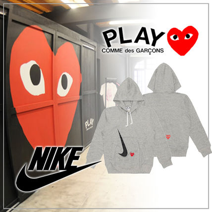 Nike Long Sleeves Plain Logo Hoodies