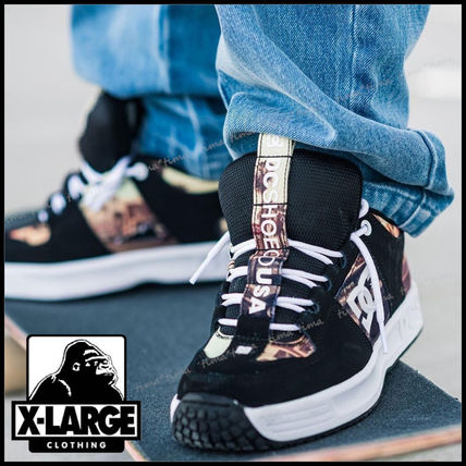 X-Large Street Style Collaboration Logo Sneakers