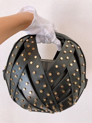 Casual Style Studded 2WAY Leather Party Style Formal Style