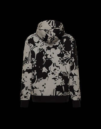 MONCLER Flower Patterns Nylon Cotton Street Style Cardigans