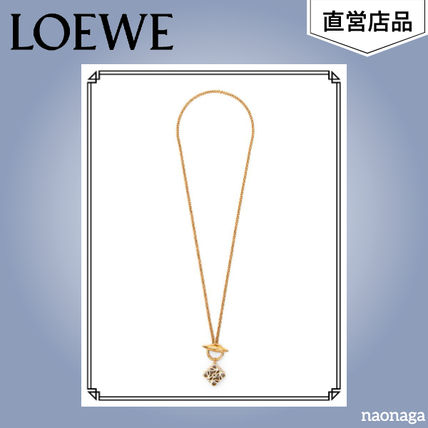 LOEWE Anagram Pendant Necklace In Metal