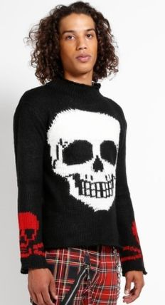 Pullovers Skull Unisex Street Style Long Sleeves Sweaters