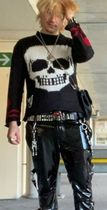 TRIPP NYC Sweaters Pullovers Skull Unisex Street Style Long Sleeves Sweaters 8