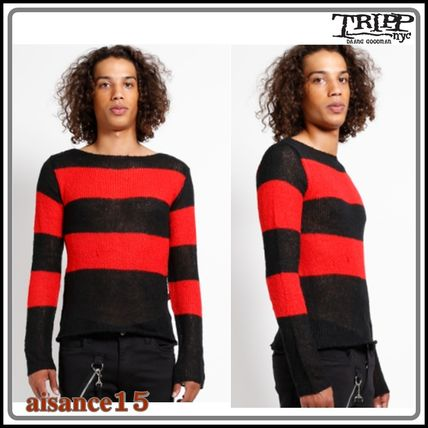 TRIPP NYC Sweaters Pullovers Stripes Unisex Street Style Long Sleeves Sweaters