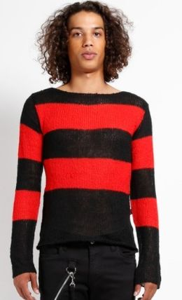 TRIPP NYC Sweaters Pullovers Stripes Unisex Street Style Long Sleeves Sweaters 3