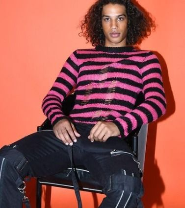 Pullovers Stripes Unisex Street Style Long Sleeves Sweaters